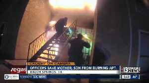 Texas cops save woman, son from fire [Video]