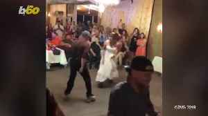 Roller Skating Bride-Dad Duo Bust a Move at Wedding Reception [Video]