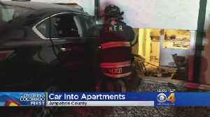 Naked Man Who Crashed Car Into Apartments Being Investigated For Impaired Driving [Video]