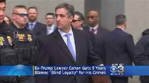 Former Trump Lawyer Michael Cohen Sentenced To 3 Years In Prison [Video]