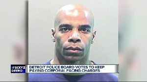 Detroit police board votes to let suspended officer keep pay while charged with assault [Video]