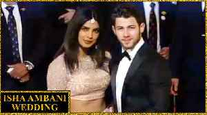 Priyanka Nick Hand-In-Hand At Isha Ambani Wedding In Mumbai [Video]