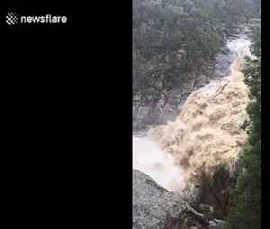 Waterfall turned into cascading rush of water as torrential rain lashes Australian state of Victoria [Video]
