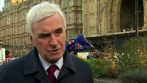 McDonnell: Labour 'hoping' PM can negotiate a better deal [Video]