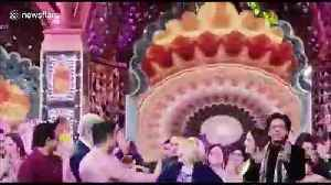 News video: At celebrity Indian wedding the Clintons danced with Bollywood superstars