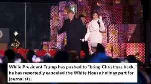Trump Reportedly Cancels White House Christmas Party For The Press [Video]