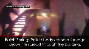 Dramatic moment boy jumps out of apartment during fire [Video]