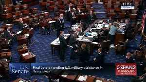 Senate Votes To End Sending U.S. Military Aid In The War In Yemen [Video]