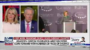 Rep. Meadows — Republicans Will Be Interviewing Three Clinton Foundation Whistleblowers This Week [Video]