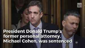News video: Breaking: Judge Says Cohen's Crimes Are 'Serious Offense,' Sentences Him to 3 Years in Prison