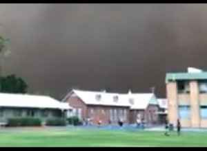 Dust Storm Looms Over New South Wales High School [Video]
