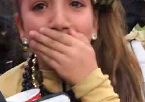 Kid Cries Tears of Joy as New Orleans Saints Player Gives Her His Glove After Game [Video]