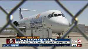 Allegiant adds new flight from Punta Gorda to upstate NY [Video]