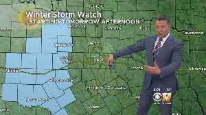 Winter Storm Watch Begins Tomorrow Afternoon West Of DFW [Video]