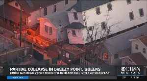 House Collapses Onto Adjacent Home In Queens [Video]