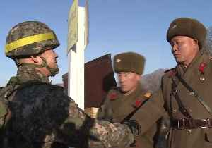 North and South Korean Soldiers Cross DMZ to Check Dismantled Guard Posts [Video]