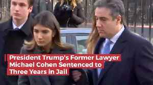 With His Family In The Courtroom, Michael Cohen Is Sentenced To 3 Years In Jail [Video]