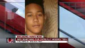 MPD searching for cognitively delayed teen [Video]