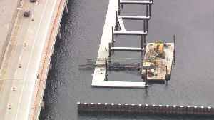 Crane collapses at marina in Bradenton | Action Air 1 [Video]
