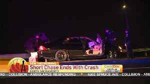 Police Pursuit In North Sacramento Ends With Suspect Crashing [Video]