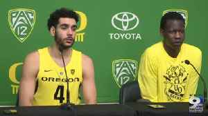 News video: Web Extra: Ehab Amin and Bol Bol after Oregon beat San Diego (12/12/18)
