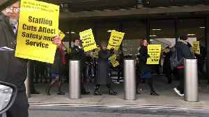 United Airlines flight attendants protest worldwide against staff and service cuts [Video]
