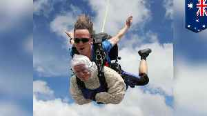 Women, aged 102, goes skydiving, breaks world record for charity [Video]