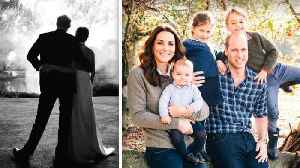 See Meghan Markle and Kate Middleton's Christmas Card Photos [Video]
