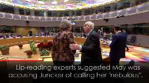 Camera captures May and Juncker having a frosty exchange [Video]