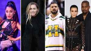 Kim Kardashian, Miley Cyrus and Ariana Grande Jump In on Kanye West and Drake's Feud [Video]