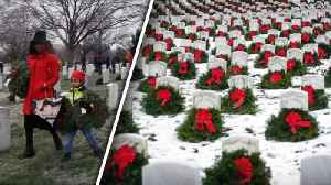 News video: Wreaths Laid on Veterans' Graves in Time for the Holidays