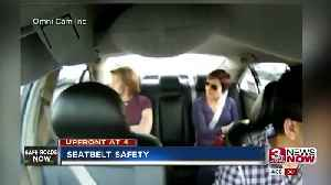 Crash survivor recommends buckling up no matter where you sit in the car [Video]