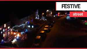 Drone footage shows Britain's most festive street [Video]