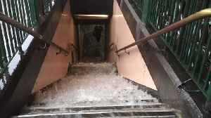 Floodwater Gushes Down Steps to Train Station as Deluge Hits Melbourne [Video]