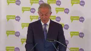 Former British PM Blair says 2nd Brexit referendum over 50 percent likely [Video]