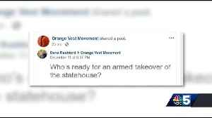 'Armed takeover of statehouse' Facebook post causes concern [Video]