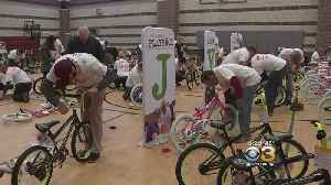 Dozens Of Volunteers Gathered At The Salvation Army In Camden To Build Bikes [Video]