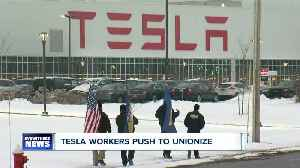 Tesla employees launch organizing drive with help of nationwide unions [Video]