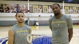 Warriors' Stephen Curry and Kevin Durant Accept Sportsperson of the Year Award [Video]