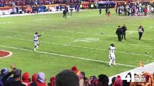 VIDEO: Chiefs fans throw beer at celebrating Charger players [Video]