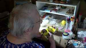 100 year old donates hundreds of handmade ornaments [Video]