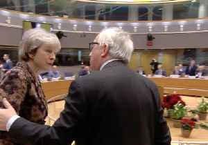 Theresa May and Jean-Claude Juncker Share Frosty Exchange Ahead of Brexit Summit [Video]