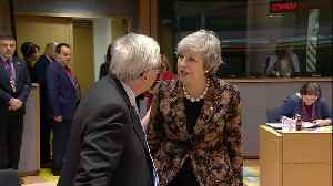 Theresa May and Jean-Claude Juncker caught on camera in tense exchange [Video]