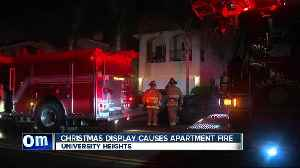 Christmas display leads to fire in apartment [Video]