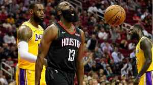 LeBron James And The Lakers Played Defense With Their Hands Behind Their Backs Vs. The Rockets To Protest Foul Calls [Video]