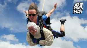 102-year-old woman becomes the world's oldest tandem skydiver [Video]
