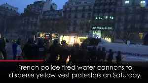 Dramatic moment French police blast water cannons [Video]