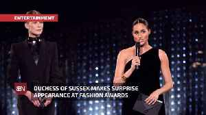 The Duchess Of Sussex Surprises Fashion Awards [Video]