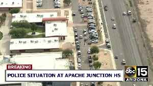RAW VIDEO: Large police presence outside Apache Junction High School [Video]