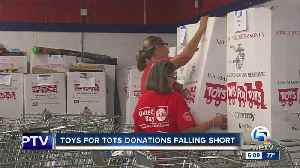 Toys for Tots donations falling short [Video]
